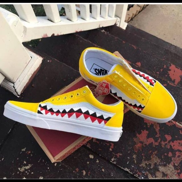 yellow vans with teeth \u003e Clearance shop